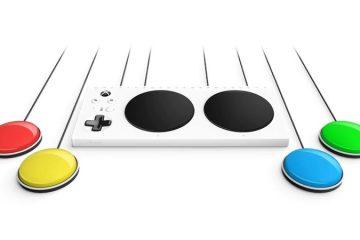 Xbox Adaptive Controllerとスイッチの画像